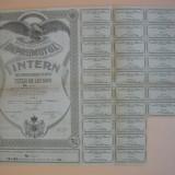 Imprumutul intern de consolidare 1935 (lot 4 titluri, 500, 1000, 2000, 5000 lei)