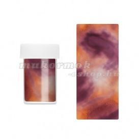 Folie decorativă pentru unghii - violet-auriu foto