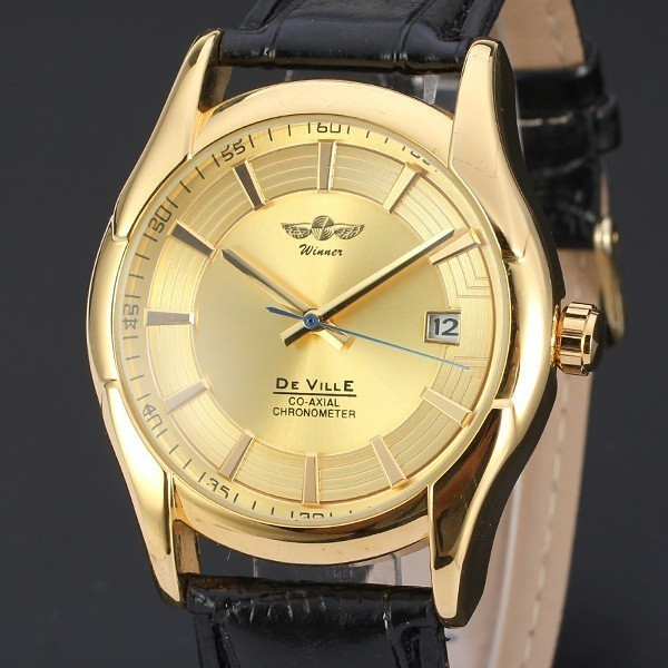 Ceas barbatesc Automatic Winner De Ville Gold
