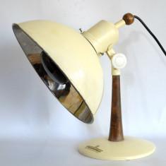 Veioza, lampa UV - ULTRAVIOLETE , anii '50, design industrial Thermolux Viena, Lampi