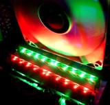 KIT 4GB 2X2GB  DDR3 XMP Crucial Ballistix  1600 RGB LED VERDE+ROSU , ULTRARAPIDE, DDR 3, 4 GB, Dual channel