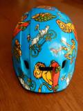 Casca ciclism copii/adolescent 46-52 cm circumferinta cap; impecabila, ca noua, Tricouri