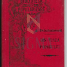 ALEX. SWIENTOCHOWSKI ( traducere de I. Hussar ) - DIN VIATA POPORULUI ( Chawa Rubin - Damian Kapenko- Karl Krug ) , Craiova 1895