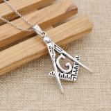 Pandantiv / Colier / Lantisor / Medalion -Simbolul Mason , Illuminati,Freemasons
