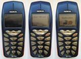 Nokia 3510i  (baterie descarcata, fara incarcator), Albastru, Neblocat, NU