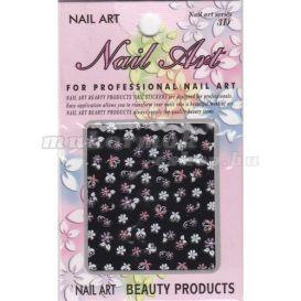 Sticker 3D nail art - flori, fluturaşi