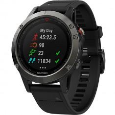 Smartwatch Fenix 5 Sapphire Edition Negru, Garmin