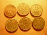 6 Monede 5 Bani : 1952 ,1953 ,1954 ,1955 ,1956 ,1957 cal.F.Buna