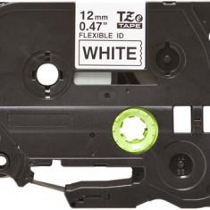Banda laminata flexibila compatibila BROTHER TZE-FX231, Negru/Alb, 12mm x 8m
