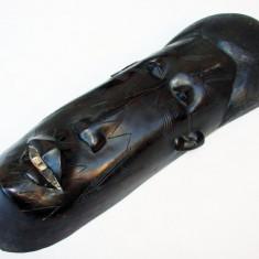 Masca africana din lemn de abanos - inaltime 39 cm