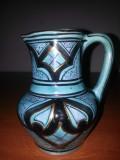 Vaza /carafa orientala ceramica, marcata, inaltime 12,5 cm