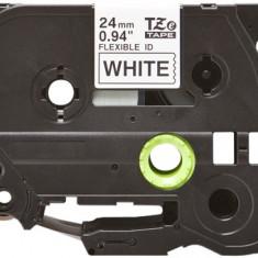 Banda laminata flexibila compatibila BROTHER TZE-FX251, Negru/Alb, 24mm x 8m