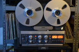 Magnetofon REVOX B 77 4 Track -low speed-stare ca nou , dust cover- STUDER