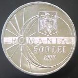 Moneda 500 Lei - ROMÂNIA, anul 1999  * cod 3993 -- ECLIPSA UNC DIN SACULET BNR!, Aluminiu