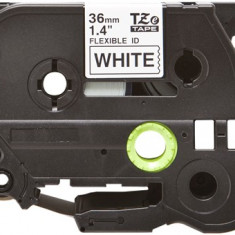 Banda laminata flexibila compatibila BROTHER TZE-FX261, Negru/Alb, 36mm x 8m