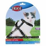 Kitty Cat ham și lesă pentru pisici, culoare neagră