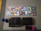 PS3 modat, PS3 banat, un PS Vita +15  jocuri