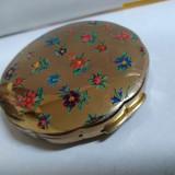 Pudriera vintage marcata Iris made in England