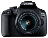 Aparat Foto D-SLR Canon EOS 2000D + EF-S 18-55mm IS II, 24.1 MP, Ecran 3inch LCD, Filmare Full HD (Negru)