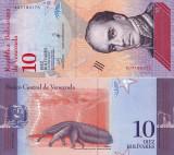 VENEZUELA 10 bolivares 15 ianuarie 2018 UNC!!!