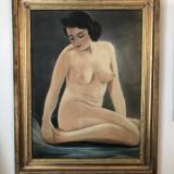 """PICTURA INRAMATA """"NUD FEMEIE"""", Ulei, Realism"""