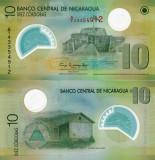 NICARAGUA 10 cordobas 2007 (2012) polymer UNC!!!