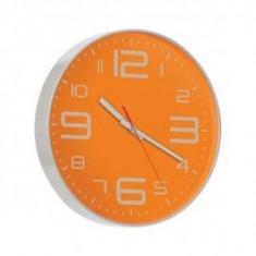 Ceas de perete Nava, gri-portocaliu