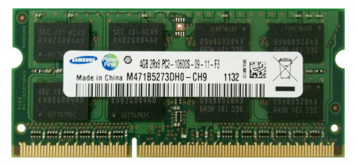 Memorie Laptop Samsung 4GB DDR3 PC3-10600S 1333Mhz 1.5V