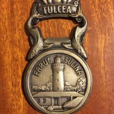 Desfacator de Bere Vintage de Metal - Farul Sulina Tulcea (ca nou!) - Deosebit!
