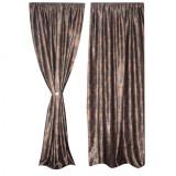 Set 2 draperii black-out150x250cmx2, culoare maro-wenge, model baroc, Model 7