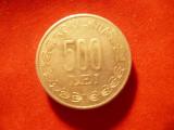 Moneda 500 lei 1999 , cal. f.buna ,aluminiu