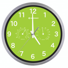 Bresser MyTime Thermo-/ Hygro- Wall Clock 25cm - verde