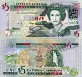 INSULELE CARAIBE 5 dollars 2008 UNC!!!