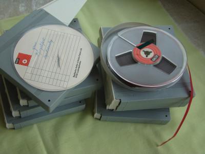 Banda Magnetofon BASF 13 cm Carcasa plastic dur - ca NOUA foto