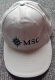 Sapca bumbac alba de la MSC, vas de croaziera, noua, Universal, Alb