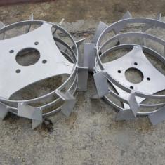 Roti metalice pentru motocultor 37cm pereche metal fier motosapa