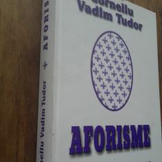 CORNELIU VADIM TUDOR(semnatura olografa)  AFORISME, 2002