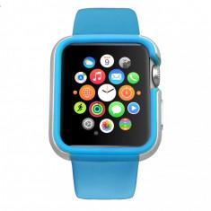 Carcasa dual layer Ozaki O!Coat Shockband Apple Watch, Watch Sport, Watch Edition - (38mm) Blue