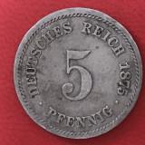 5 reichpfennig 1875 Empire German, Europa