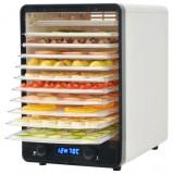 Deshidrator de alimente cu 10 tăvi, 550 W, alb