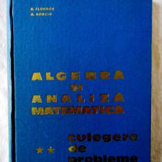 """""""Algebra si Analiza Matematica - Culegere de probleme - Vol.II"""" Donciu, Flondor, Alta editura"""