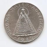 Austria 5 Schilling 1935 - (Madonna of Mariazell) Argint 15 g/835, 31mm, KM-2853, Europa
