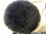 Caciula germana de dama,din blana de oaie ,culoare neagra
