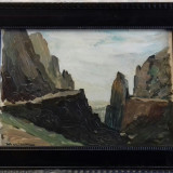 Tablou autentic Ion Marinescu Valsan, Peisaje, Ulei, Impresionism