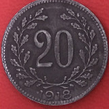 20 heller 1918 Austria Habsburg, Europa