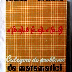 CULEGERE DE PROBLEME DE MATEMATICI - Gh. Tiganila, M. T. Dumitriu, 1979, Alta editura