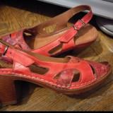Sandale piele naturala, 36, Din imagine