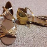 Sandale noi de dans pentru copii marimea 34, Auriu
