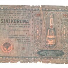 Reclama veche la sampanie, Arad, 1913, in lb. maghiara