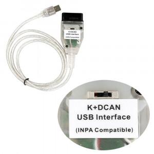 Tester auto, Interfata auto, Diagnoza Auto Scanner OBD2 BMW INPA K+DCAN FT232RQ